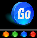 Go Icon. Royalty Free Stock Photography