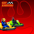 Go karting poster race ad or leaflet design Royalty Free Stock Image
