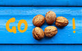 Go nuts motivational message showing the idea of having fun and doing what you like Stock Photography
