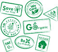 Go recycle, Go Green Icon Set Royalty Free Stock Photo
