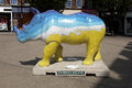 Go rhino southampton uk july locally decorated sculptures on display in southampton to raise awareness of the plight of rhinos in Royalty Free Stock Image