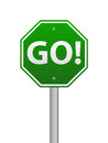 Go road sign Royalty Free Stock Image