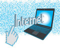 Go to internet illustration Stock Images