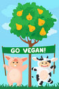 Go vegan banner Royalty Free Stock Image
