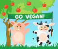 Go vegan banner Stock Photography