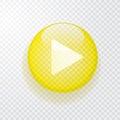 Go yellow button Royalty Free Stock Photo