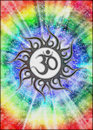 Goa Aum tie dye design Royalty Free Stock Images