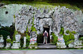Goa gajah temple the elephant cave temple in bali indonesia Royalty Free Stock Photo