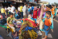 Goa market mapusa india april people including unidentified children of years on friday on april mapusa india friday is a major Royalty Free Stock Photography