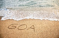 Goa on the sand Royalty Free Stock Photos