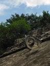 Goal of Ancient Mayan Ballgame Pitz Royalty Free Stock Photo