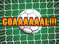 Goal ball in the net background Stock Images