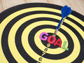 Goal on dart board 4 Royalty Free Stock Photo