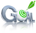 Goal high resolution rendering of a icon Stock Image