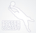 Goal Keeper Soccer Player Silhouette Royalty Free Stock Photo