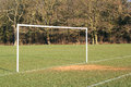 Goal posts on a soceer pitch. Royalty Free Stock Photo