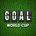 Goal scoreboard. Football soccer vector concept for World Cup Royalty Free Stock Photo