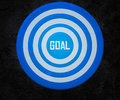 Goal on the Target Royalty Free Stock Images