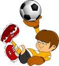 Goalkeeper in the game