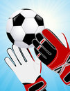 Goalkeeper hands Royalty Free Stock Images