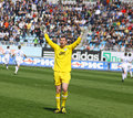 Goalkeeper Jan Lastuvka of FC Dnipro Royalty Free Stock Photography