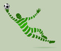 Goalkeeper with a ribbon illustration vector design eps Stock Photography