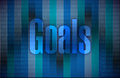 Goals and a binary background illustration design graphic Royalty Free Stock Images