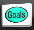 Goals Button Shows Aims Objectives Or Aspirations Stock Photos
