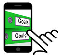 Goals folders displays direction aspirations and targets displaying Stock Image