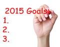 2015 Goals Royalty Free Stock Photo