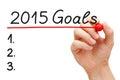 Goals 2015 Royalty Free Stock Photo