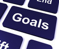 Goals Key Shows Aims Objectives Or Aspirations Royalty Free Stock Photography