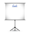 Goals presentation board illustration design over a white background Stock Photos