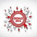 2014 Goals Web Design Royalty Free Stock Photo