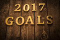 2017 Goals Royalty Free Stock Photo