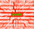 Goals Word Means Aims Targets And Aspirations Stock Photos