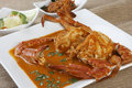 Goan crab curry is made from fresh whole crabs cooked in spicy gravy Stock Image