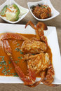 Goan crab curry is made up of whole crabs Stock Photo