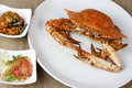 Goan crab fry – a dish made of frying whole crabs Stock Photography