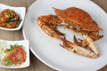 Goan crab fry from india – a dish made of frying whole crabs Royalty Free Stock Images