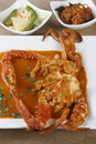 Goan crab fry from india top view is a dish made by frying whole crabs in spices this is popular in goa Royalty Free Stock Image