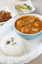Goan prawn curry is a seafood from goa made up of fresh prawns Stock Images