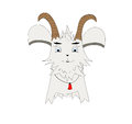 Goat cartoon character vector art illustration cute Stock Images
