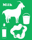 Goat milk isolated objects vector illustration eps Royalty Free Stock Image