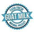 Goat milk label or sticker Royalty Free Stock Photo