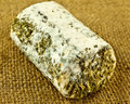 Goats cheese a closeup of mature covered in herbs and mold Royalty Free Stock Photography