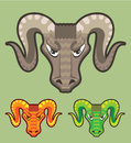 Goats head curled horns vector file eps Stock Images