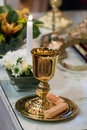 A goblet and crackers ready for a wedding Royalty Free Stock Images