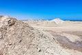 Gobustan mud volcano in azerbaijan qobustan close to baku Royalty Free Stock Images