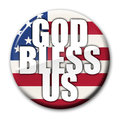 God Bless America Badge Royalty Free Stock Photo